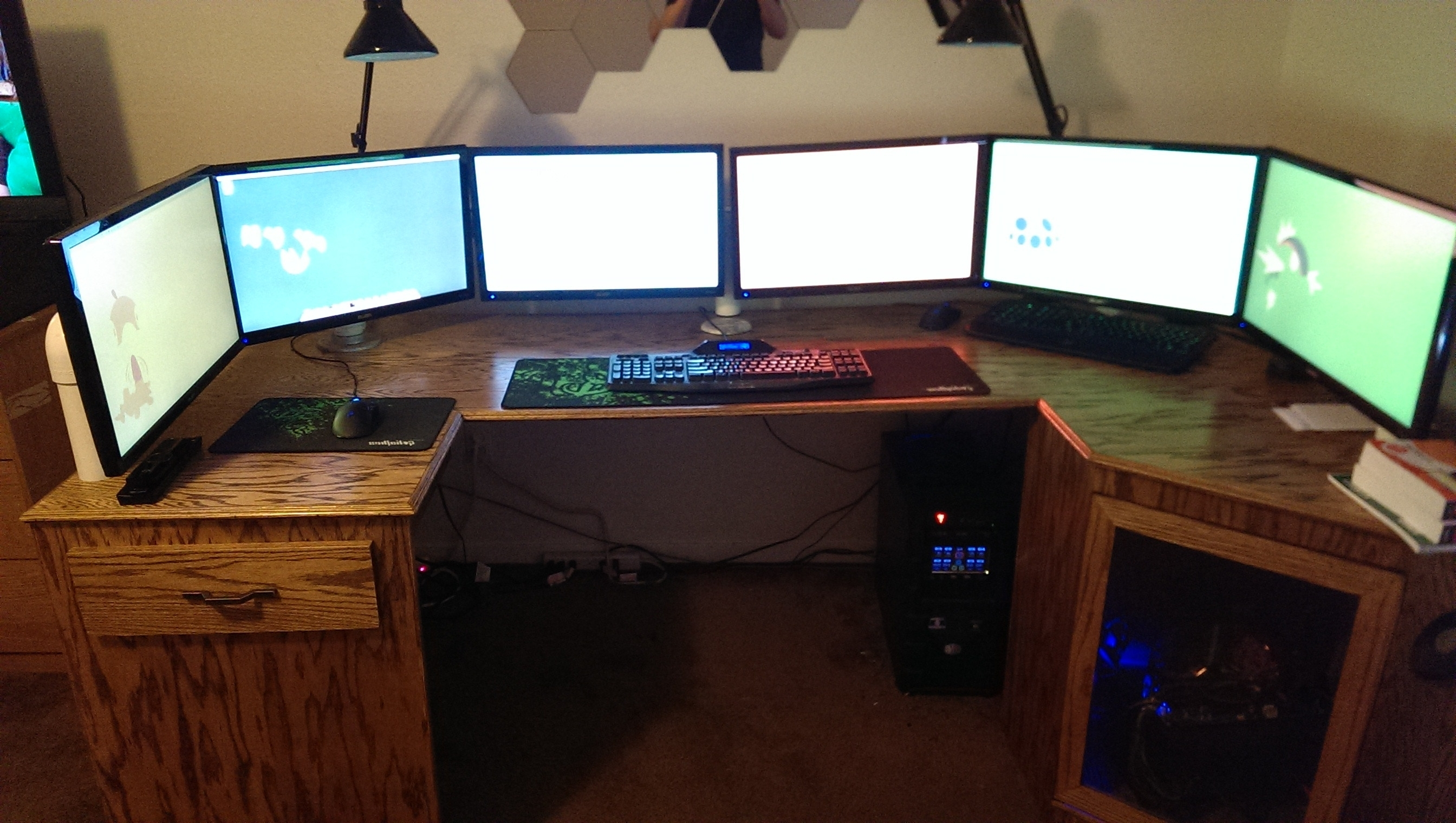 desktop desk computer gaming tremendous station inventiveness most large pc cheap standing
