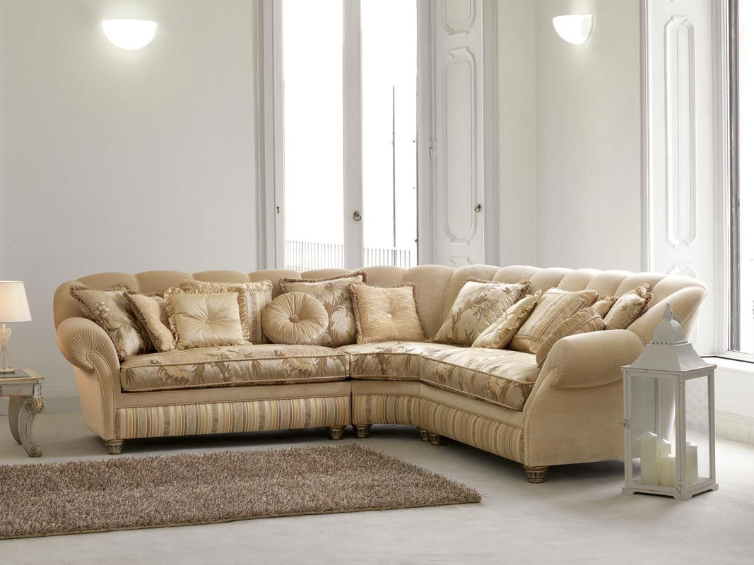 Well Known Corner Sofa / Traditional / Fabric / 5 Seater – Teseo – Pigoli Within Traditional Fabric Sofas (View 17 of 20)