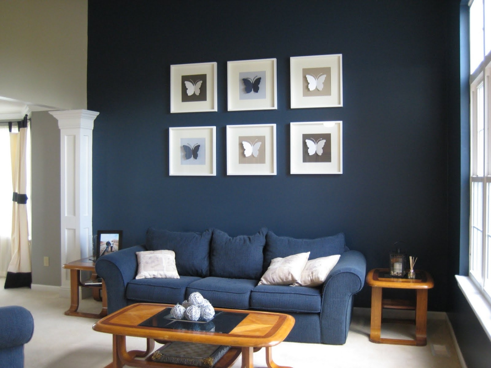 Well Known Dark Blue Sofas With Regard To Blue Sofa Living Room Design Stunning Rooms With Velvet Sofas Navy (View 19 of 20)