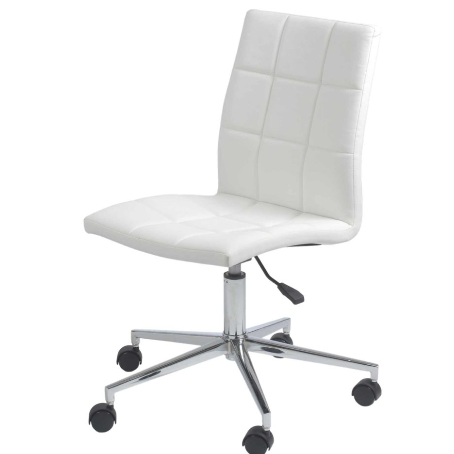 Well Known Executive Desk Chair Without Arms Regarding Comfortable White Leather Desk Chair Executive Sofa (View 2 of 20)