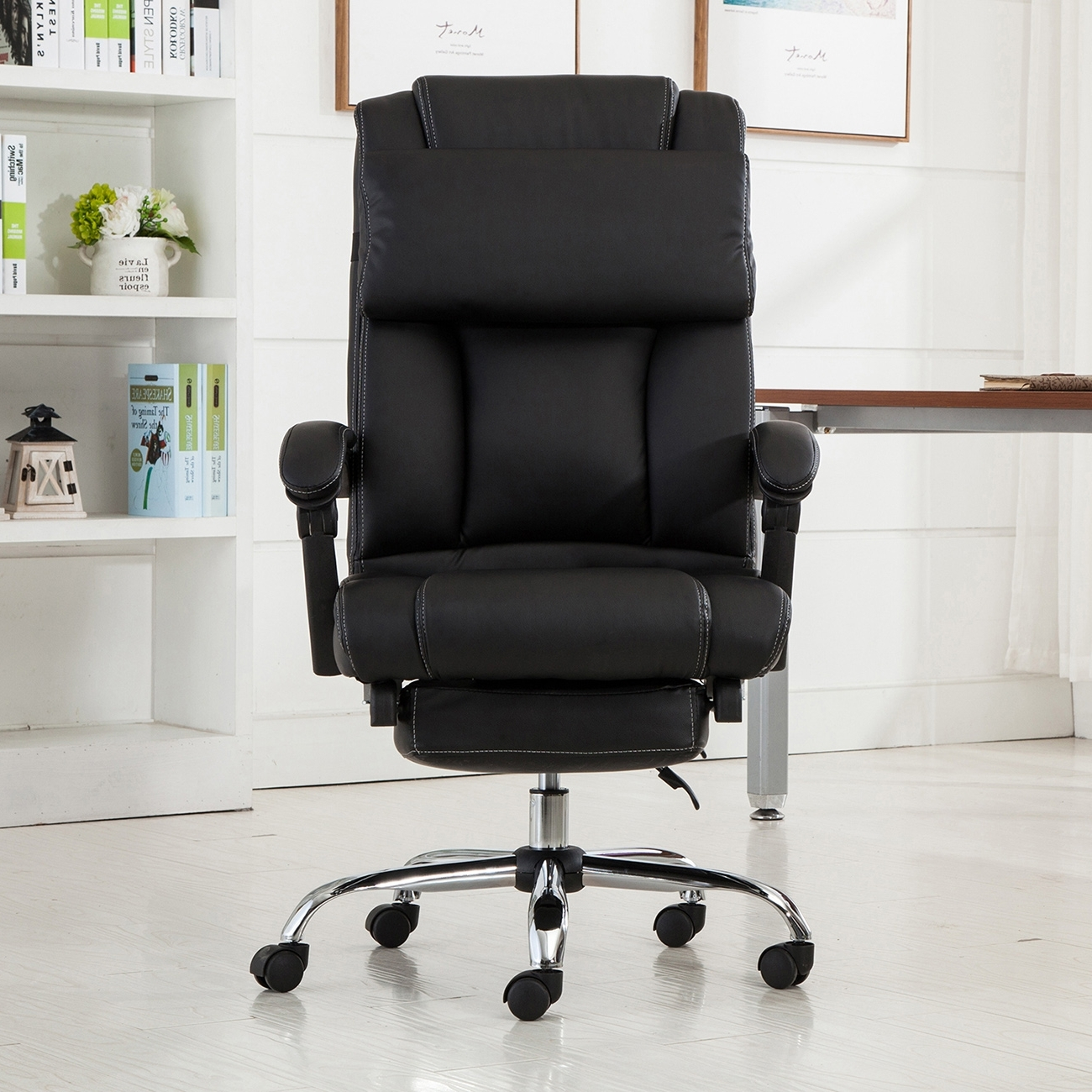 Well Known Executive Office Chair Ergonomic Armchair Reclining High Back With Executive Office Chairs With Footrest (View 11 of 20)