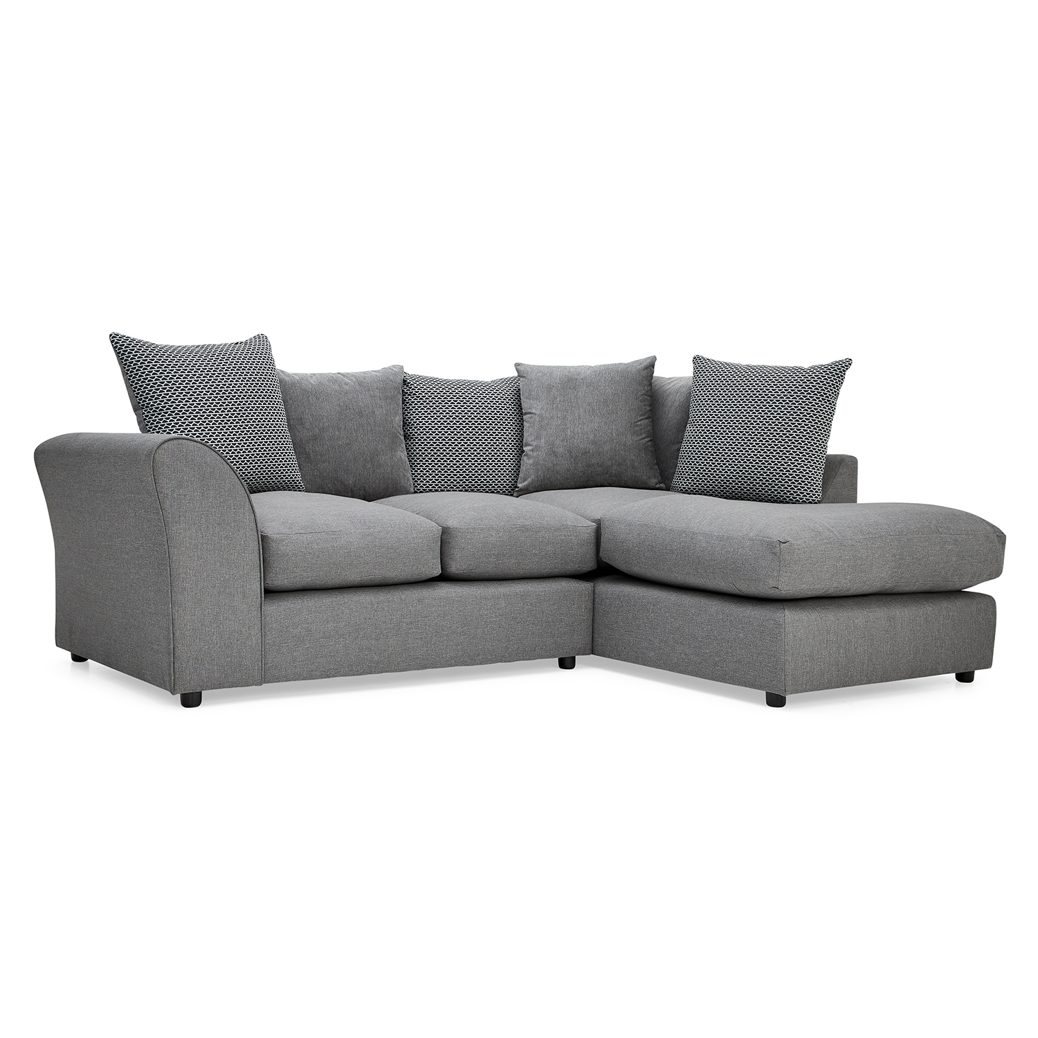 Well Known Fabric Corner Sofas Regarding Seattle Fabric Corner Sofa – Next Day Delivery Seattle Fabric (View 18 of 20)