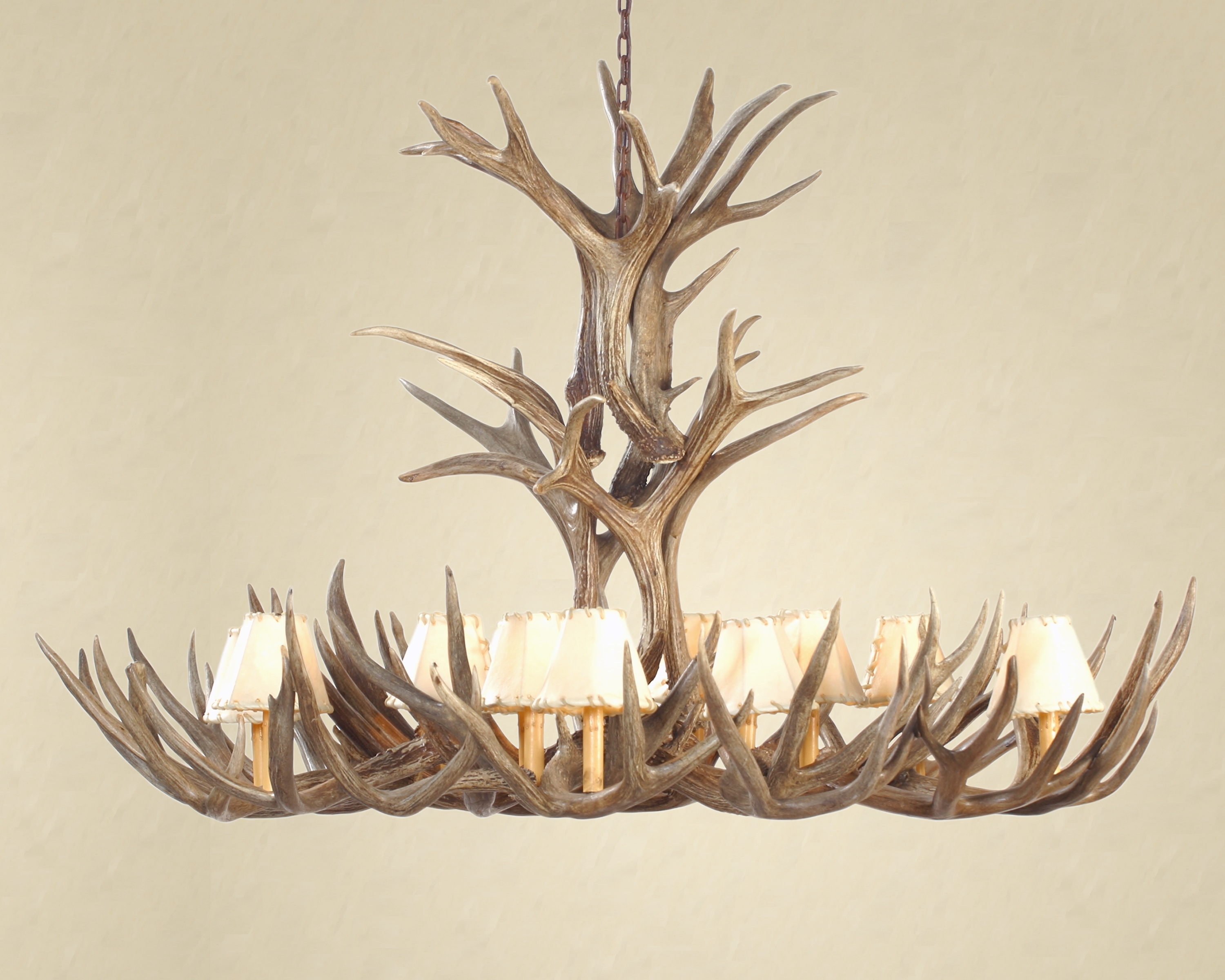 Well Known Faux Antler Chandelier Prototype Cast Horn Designs Whitewashed White Intended For White Antler Chandelier (View 16 of 20)