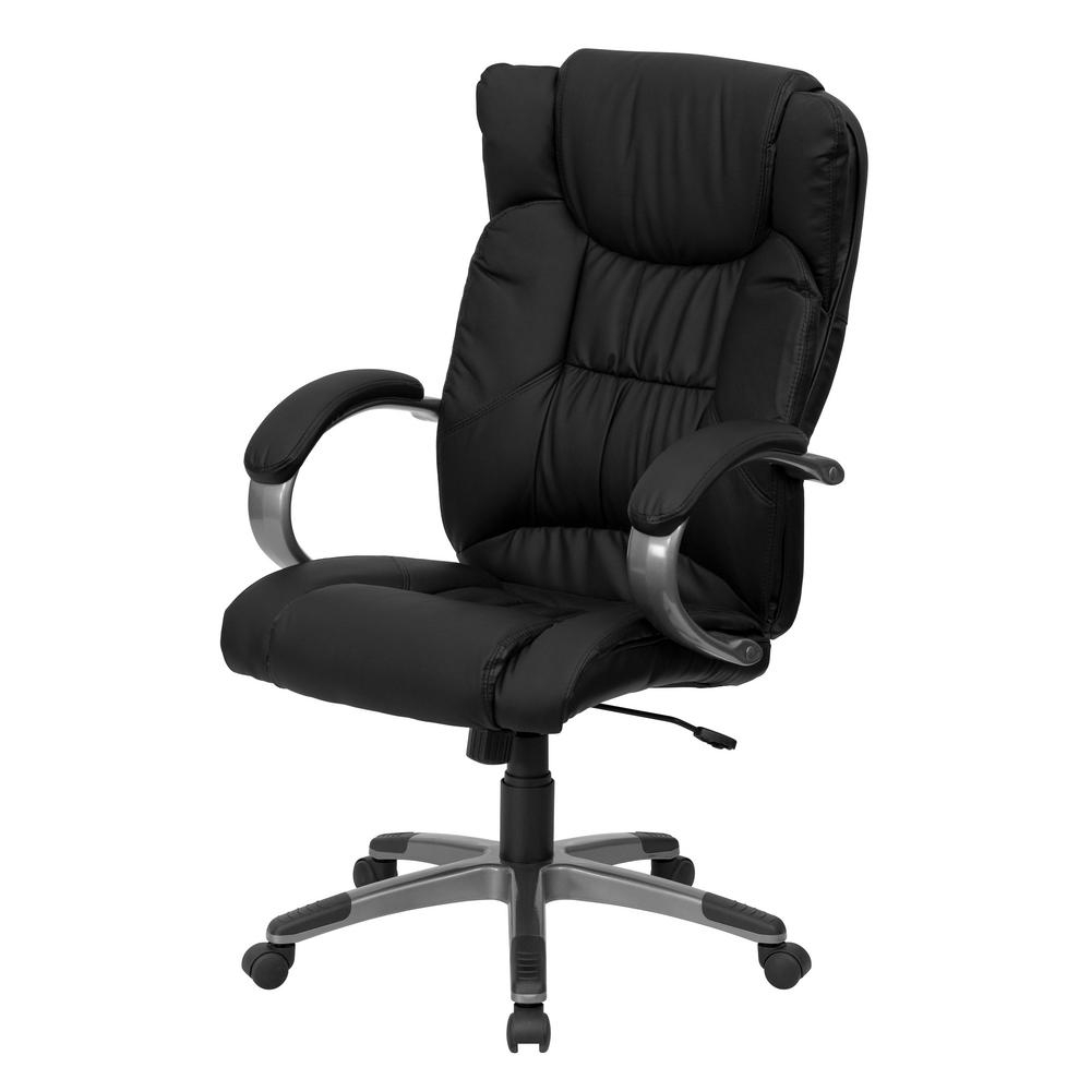 Well Known Flash Furniture High Back Black Fabric Executive Swivel Office Regarding Black Executive Office Chairs With High Back (View 20 of 20)