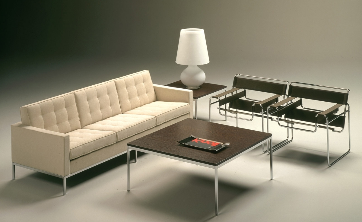 Well Known Florence Knoll 3 Seat Sofa – Hivemodern Inside Florence Knoll Wood Legs Sofas (View 7 of 20)