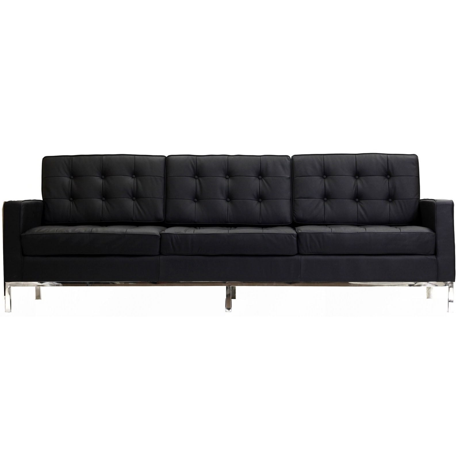 Well Known Florence Knoll Wood Legs Sofas Pertaining To Florence Knoll Style Sofa Couch – Leather (View 17 of 20)