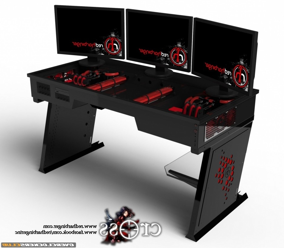 Well Known Gaming Computer Desks Pertaining To Enchanting Light Cool Room  In Best Gaming Bedroom Ideas