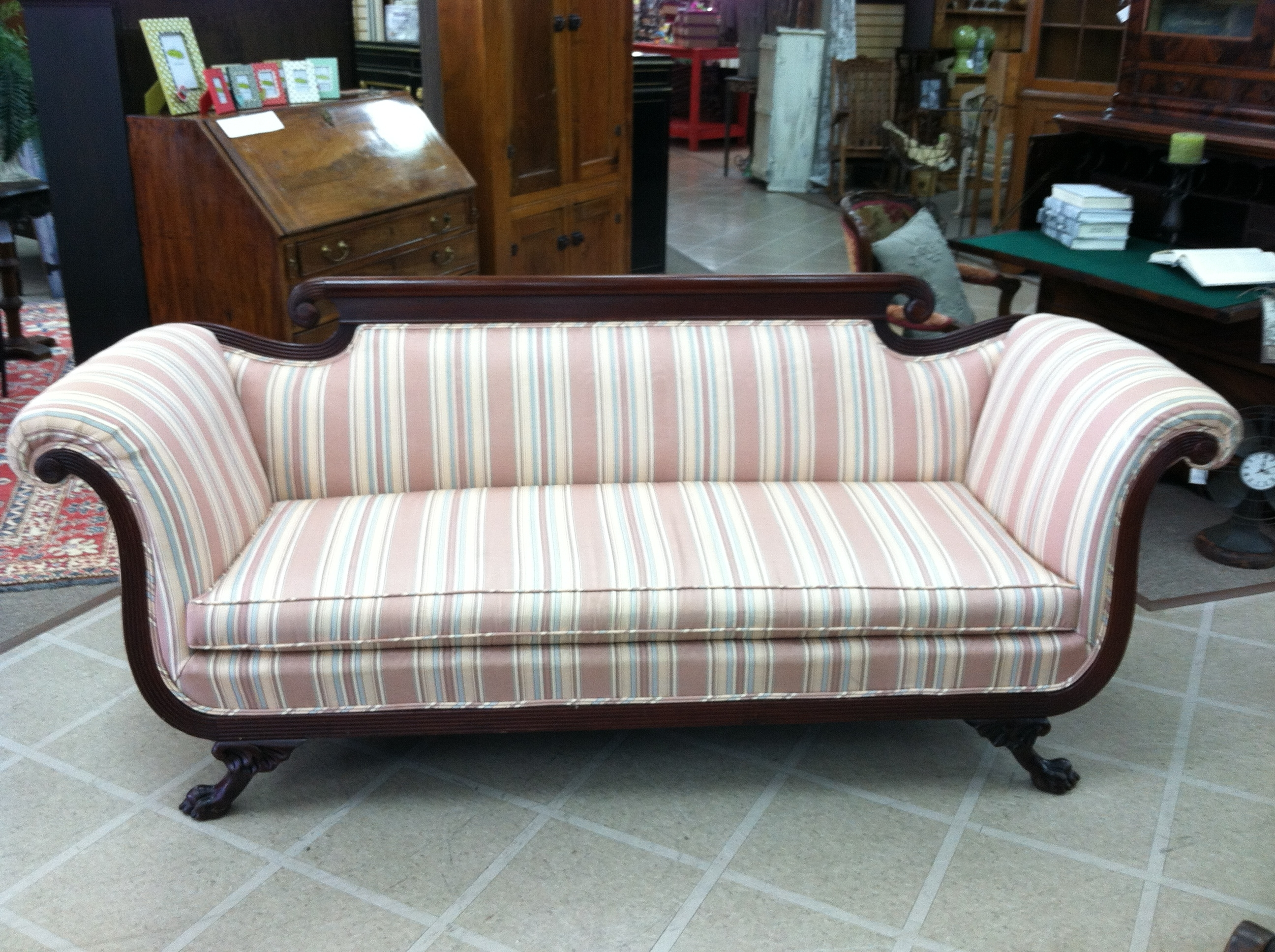 Well Known Gorgeous Antique Duncan Phyfe Style Sofa (nicely Carved) Circa Inside 1930s Sofas (View 14 of 20)