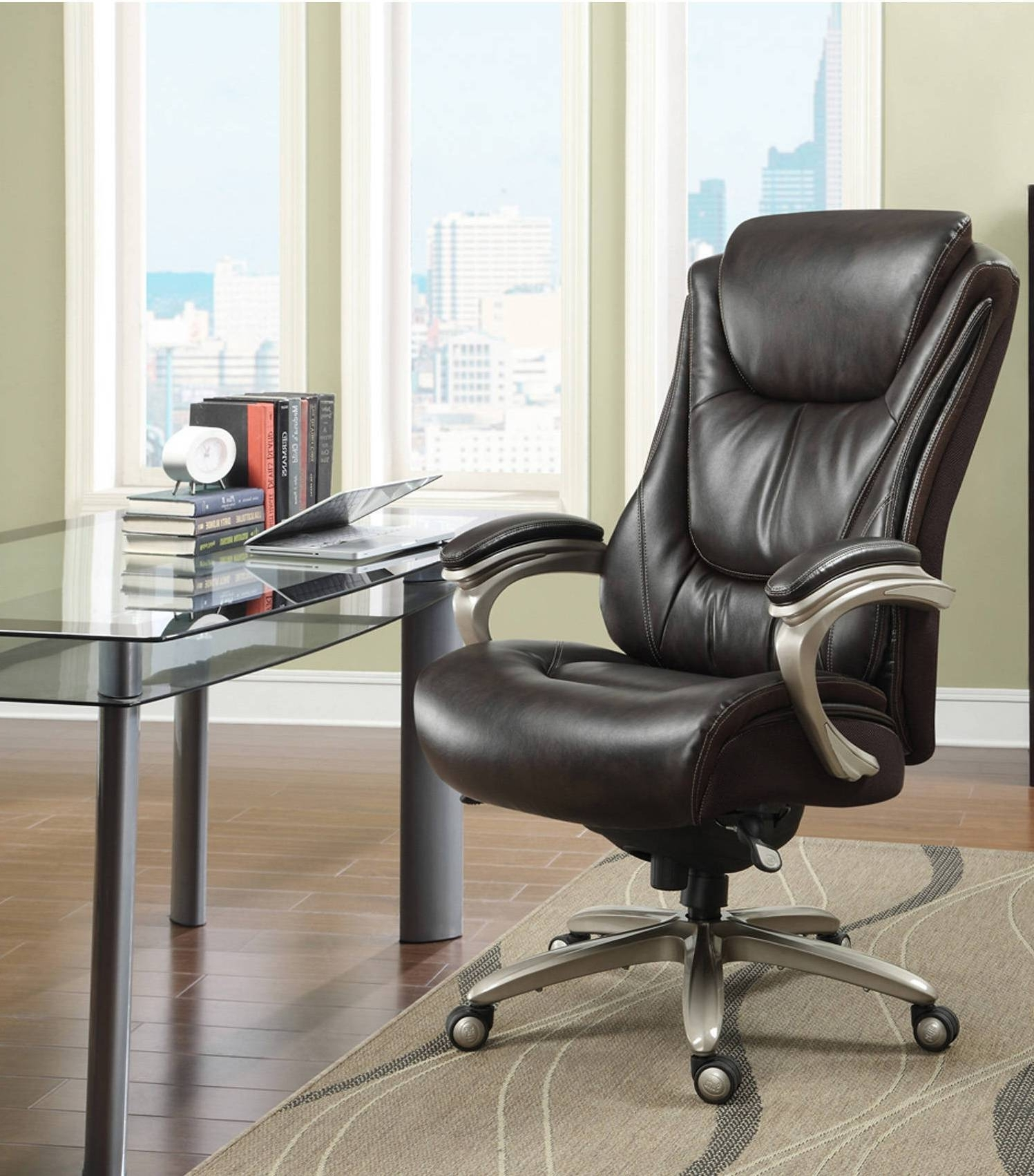Well Known Green Executive Office Chairs For Wonderful Black Leather Metal Executive Office Chairs Gray Fiber (View 7 of 20)