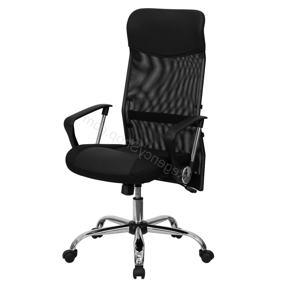 Well Known High Back Black Split Leather Chair *high Quality* Office Chair With Quality Executive Office Chairs (View 20 of 20)