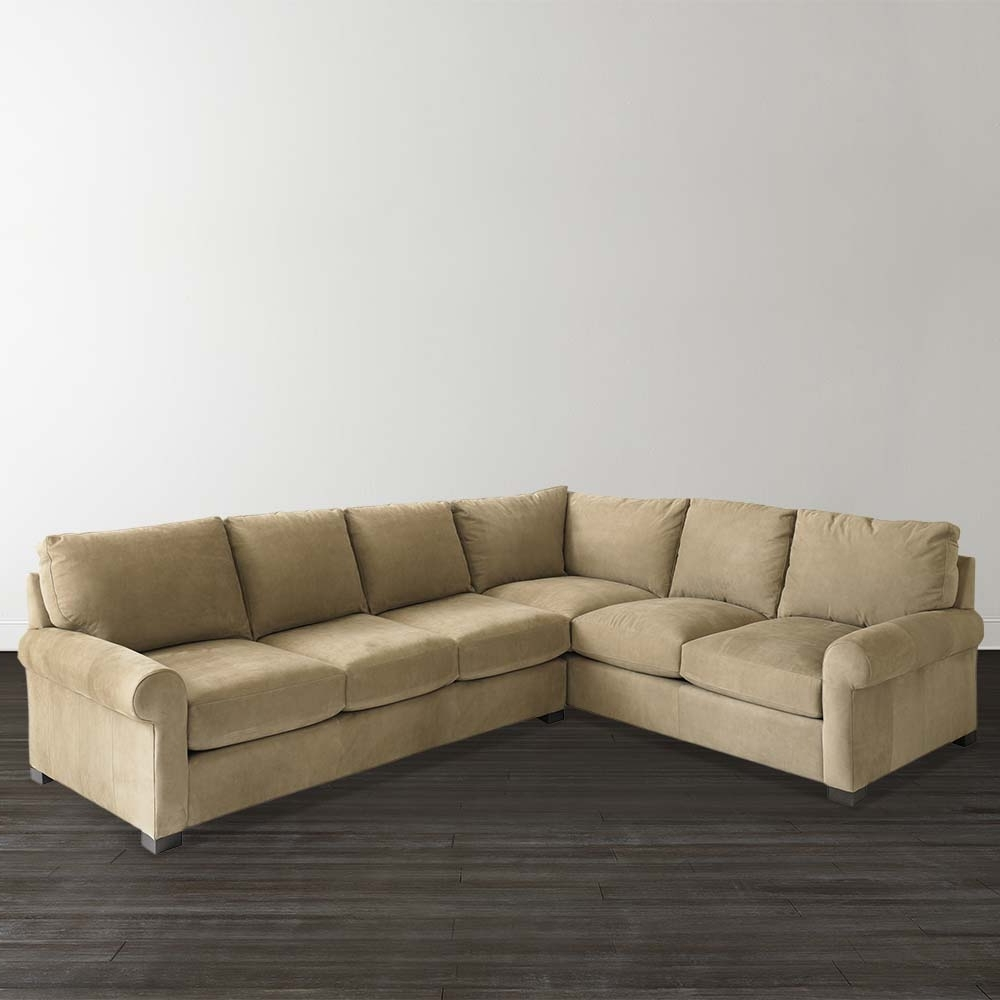 Well Known Home Decor: Cozy Leather L Shaped Couch Plus Scarborough Sofa As For L Shaped Sectional Sofas (View 14 of 20)