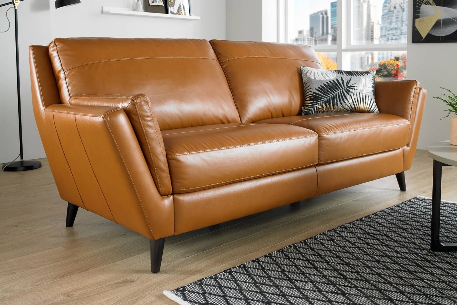 Well Known Homemakers Sectional Sofas Pertaining To Image Result For Leather Orange Brown Sofa (View 19 of 20)