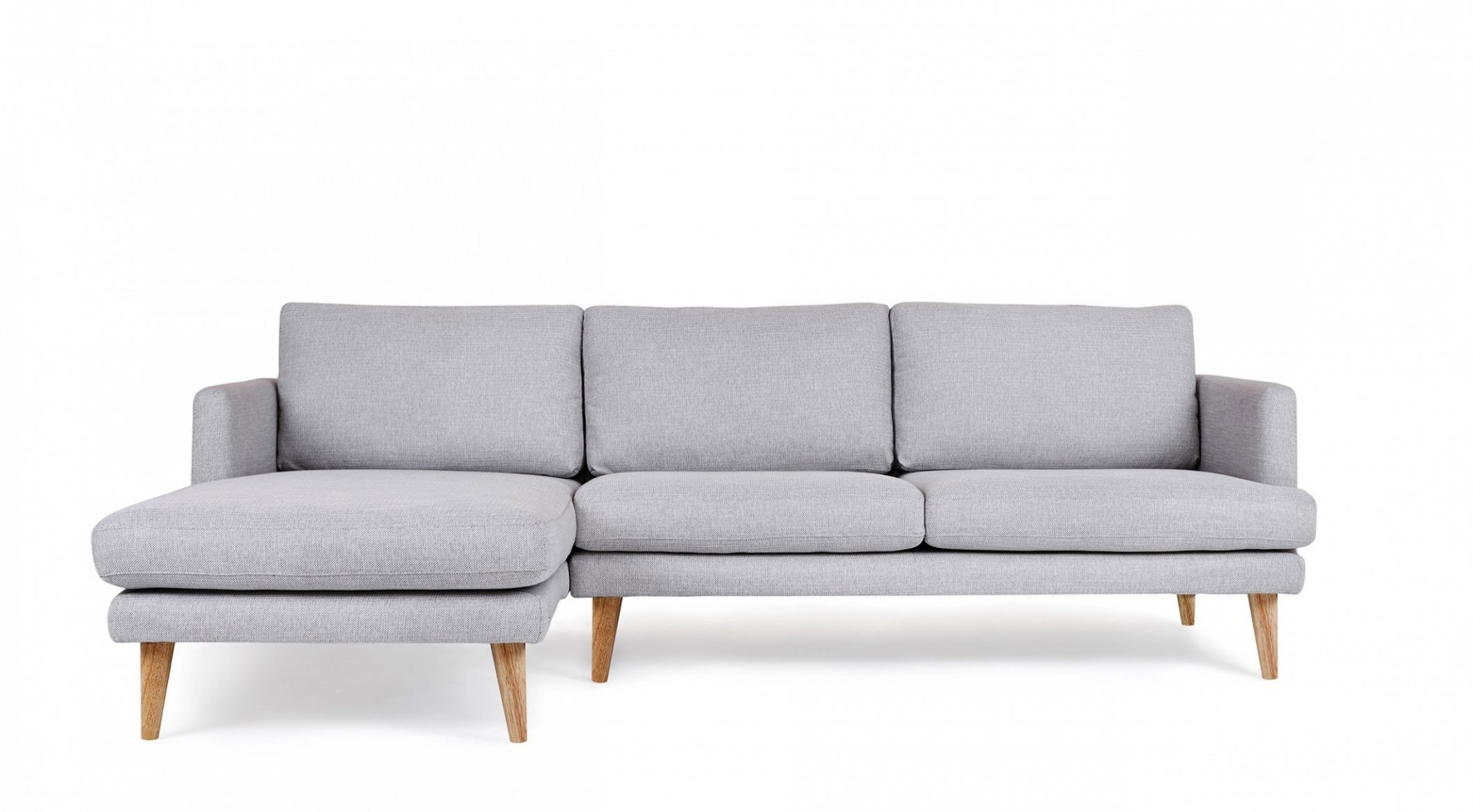 Well Known Hugo Chaise 4 Seater Sofa Light Grey Oak Legs Scandinavian Design With 4 Seat Sofas (View 16 of 20)