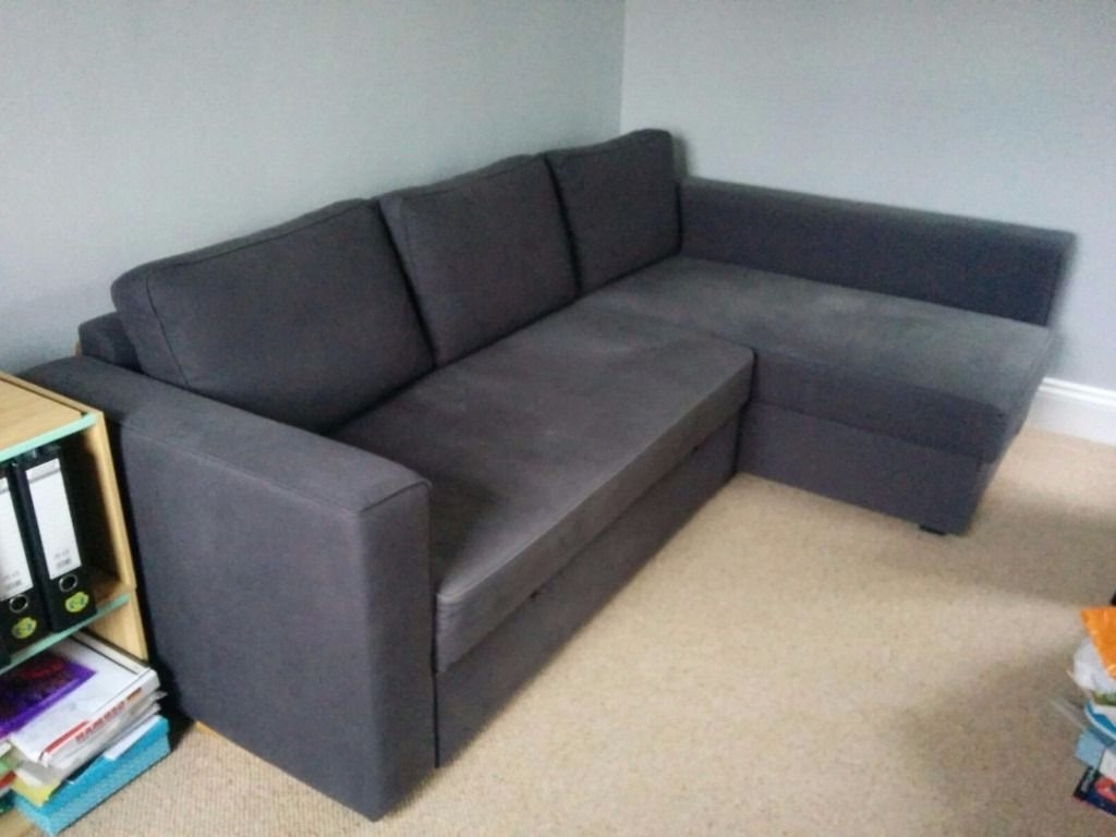 Well Known Ikea Manstad Corner Sofa / Sofa Bed, Dark Blue – Loads Of Storage Intended For Manstad Sofas (View 14 of 20)