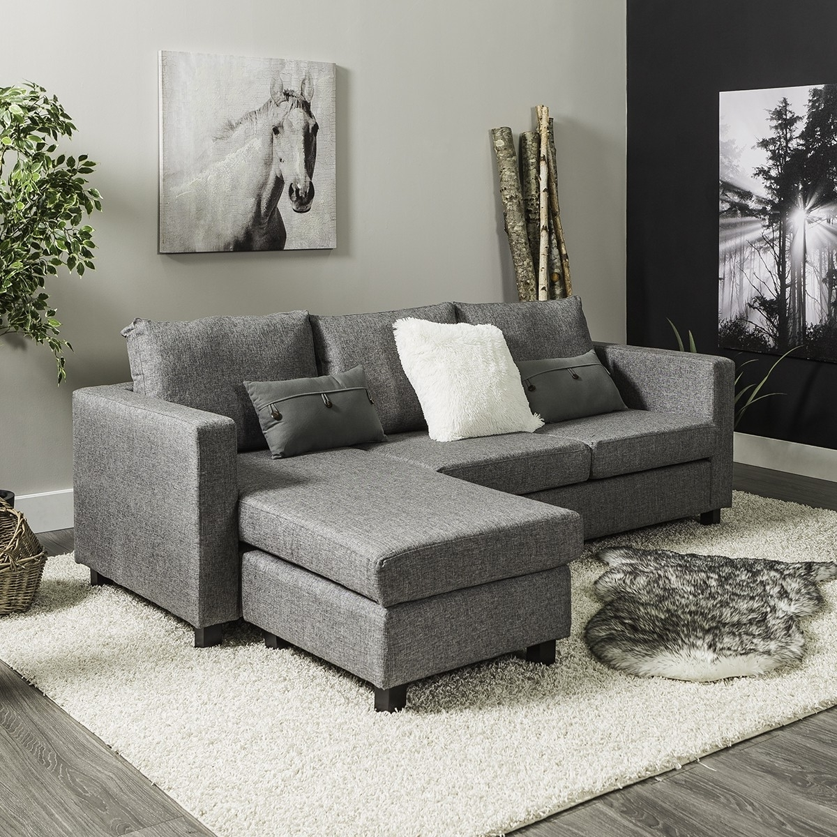 Well Known Jysk Sectional Sofas Regarding Casa Corner Sofa (Grey) (View 18 of 20)