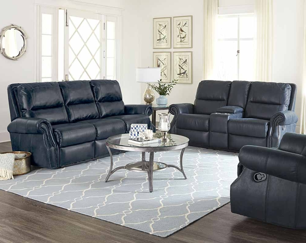 Well Known Kingston Sectional Sofas With Kingston Navy Reclining Sofa & Loveseat (View 16 of 20)