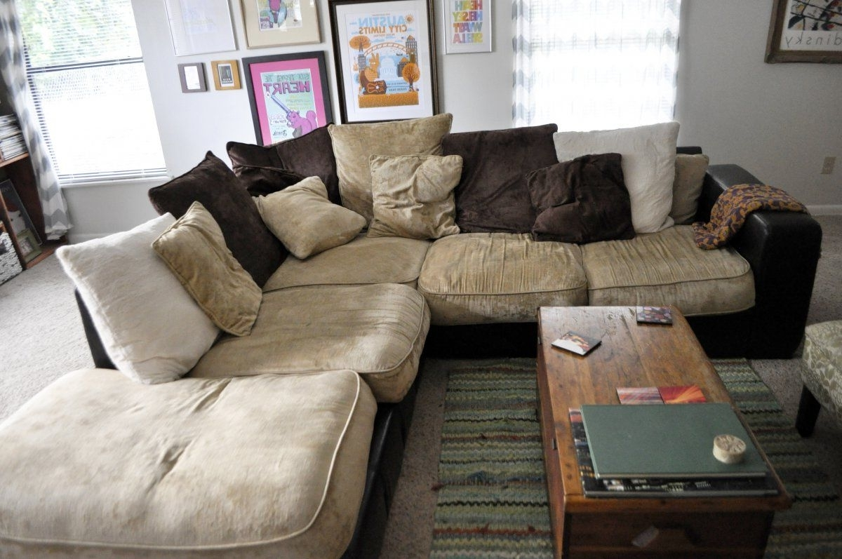Well Known Large Comfortable Sectional Sofas Inside Stunning Vintage Living Room With Oversized Most Comfortable (View 5 of 20)