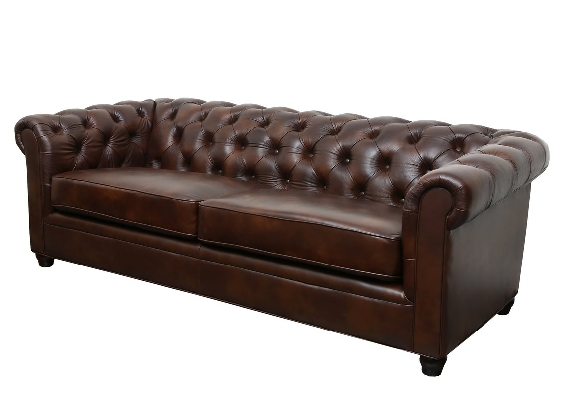 Well Known Leather Chesterfield Sofas With Trent Austin Design Harlem Leather Chesterfield Sofa & Reviews (View 18 of 20)