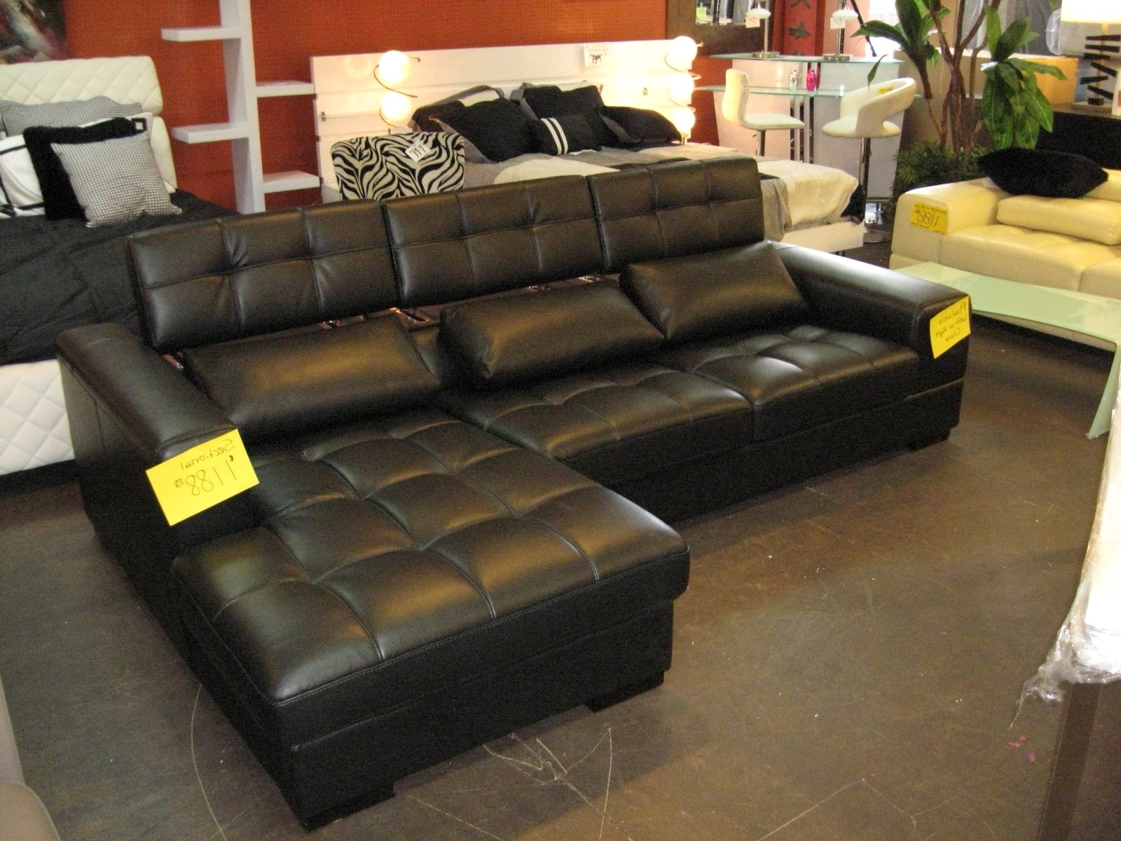 Well Known Leather Modular Sectional Sofas In Awesome Black Leather Modular Sectional Gallery – Liltigertoo (View 10 of 20)