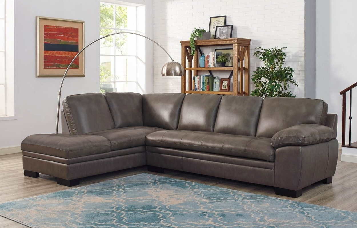 Well Known Leather Sectionals With Ottoman In Red Barrel Studio Nick Leather Sectional With Ottoman & Reviews (View 18 of 20)
