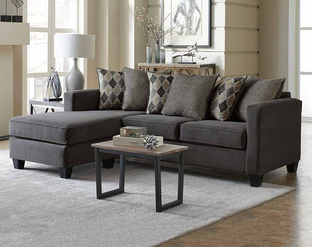 Well Known Little Rock Ar Sectional Sofas Pertaining To Milano Charcoal 2 Pc (View 5 of 20)