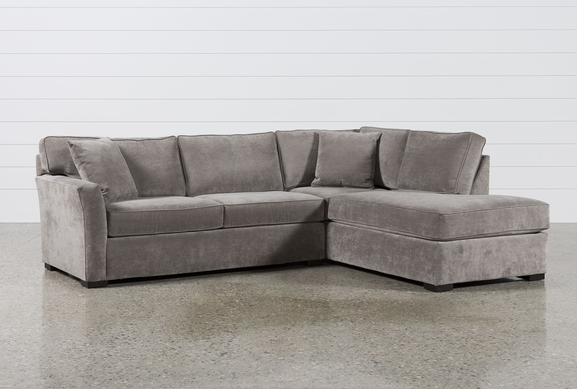Well Known Living Spaces Sectional Sofas Regarding Aspen 2 Piece Sleeper  Sectional W/laf Chaise