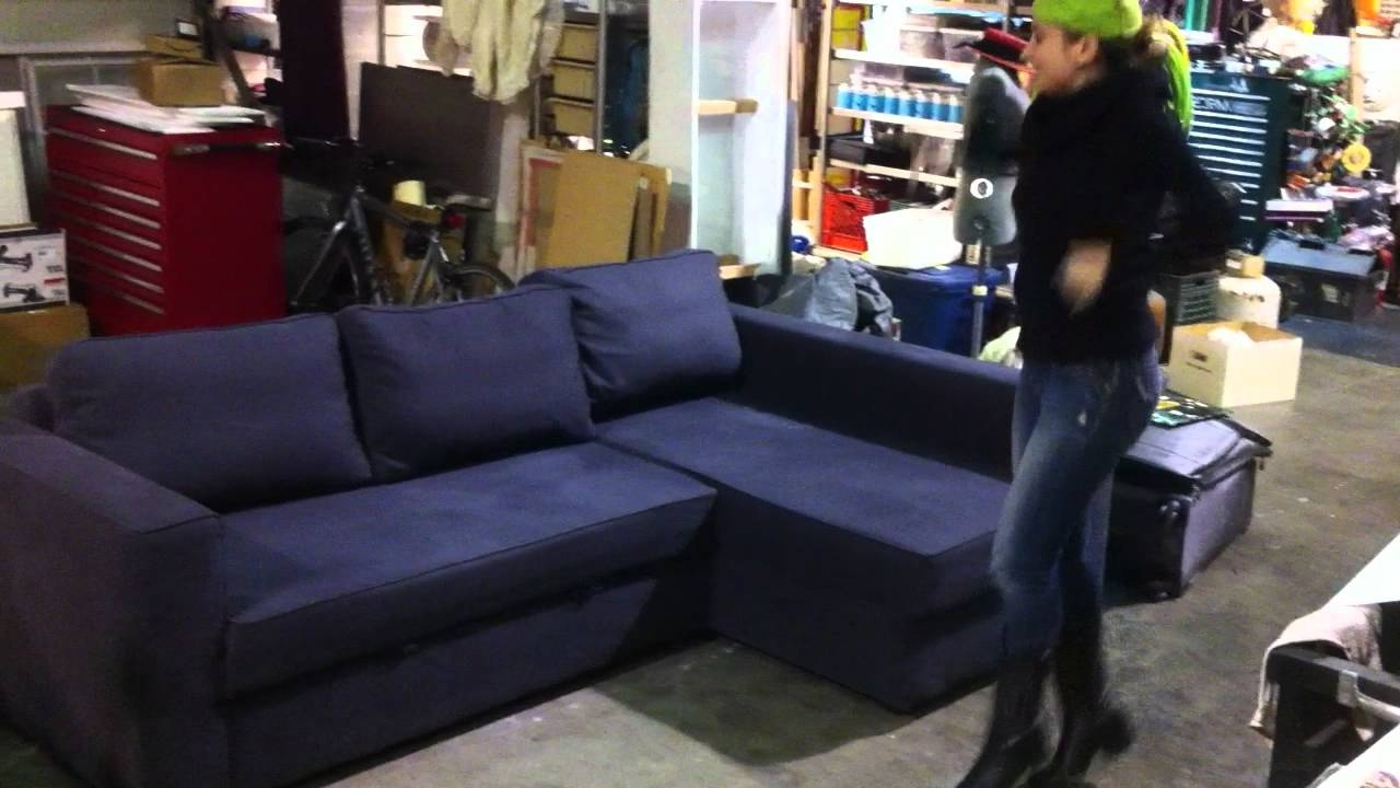 Well Known Manstad Sofas Regarding Used Ikea Manstad Sofa/couch Bed For Sale – Los Angeles – Youtube (View 18 of 20)