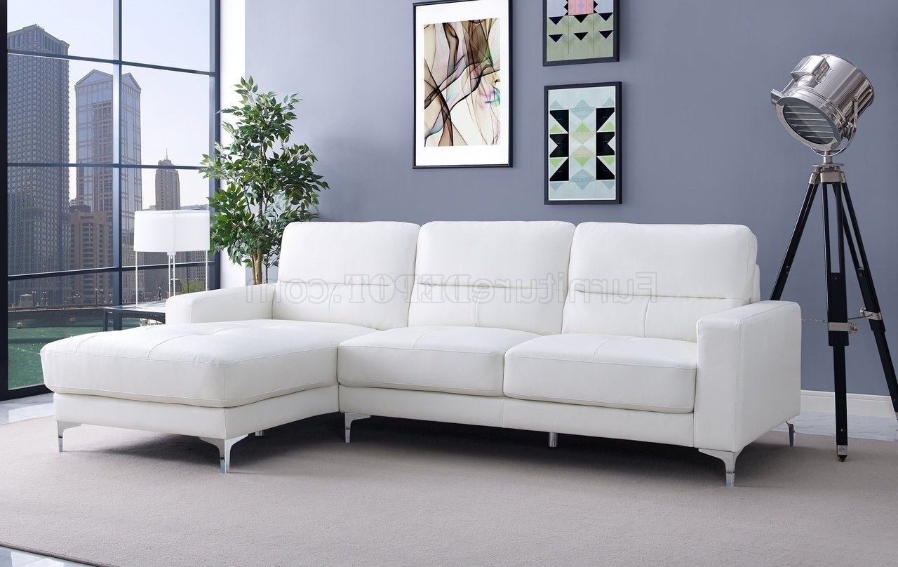 Well Known Memphis Sectional Sofa In White Bonded Leatherwhiteline Within Memphis Sectional Sofas (View 11 of 20)