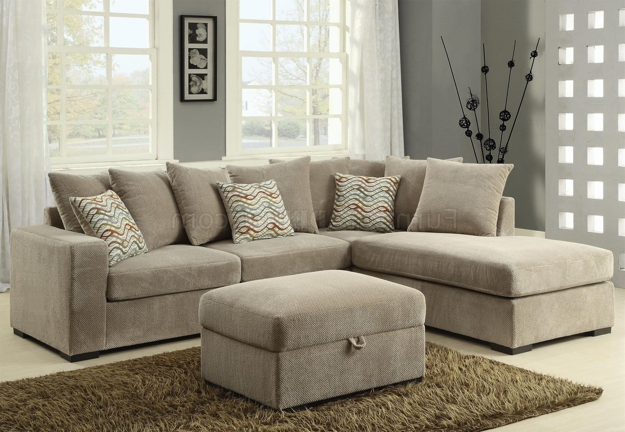 Well Known Michigan Sectional Sofas Inside Olson Sectional Sofa 500044 In Taupe Fabriccoaster (View 7 of 20)