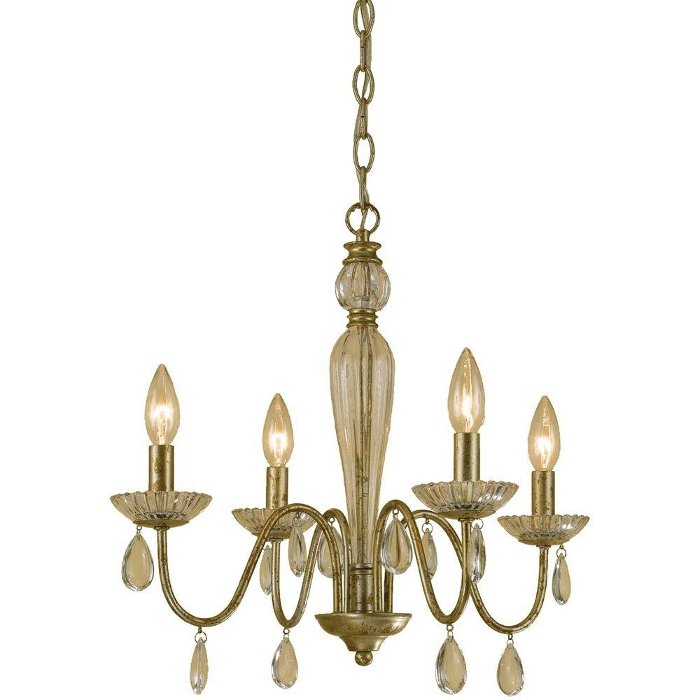Well Known Mini – Chandeliers – Lighting – The Home Depot Throughout Tiny Chandeliers (View 20 of 20)