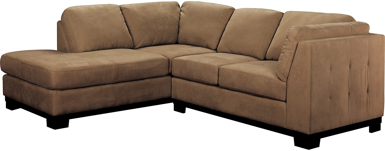 Well Known Oakdale 2 Piece Microsuede Sectional W/right Facing Chaise – Cocoa Within Sectional Sofas At Brick (View 3 of 20)