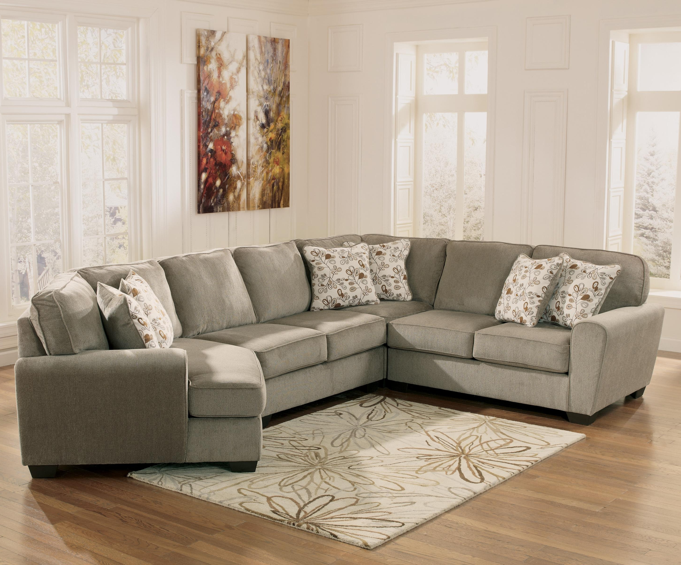 Well Known Patina 4 Piece Small Sectional With Right Cuddler (View 2 of 20)