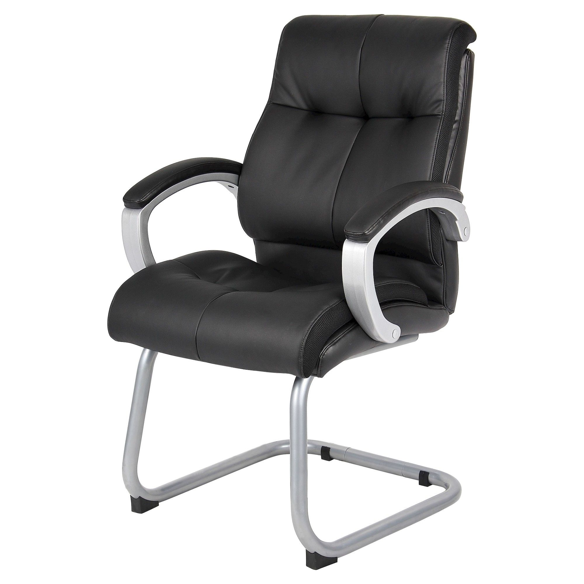 Well Known Plush Executive Office Chairs With Regard To Double Plush Executive Guest Chair Black – Boss Office Products (View 8 of 20)