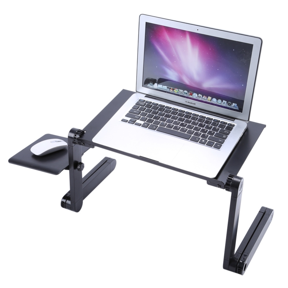 Well Known Portable Computer Desks Intended For Portable Folding Laptop Table Desk Adjustable Laptop Stand Desk (View 15 of 20)