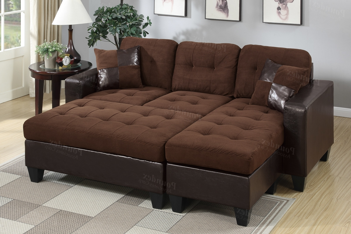 Well Known Poundex Associates Item F6928: 3 Pcs All In One Reversible Mini In Mini Sectional Sofas (View 19 of 20)