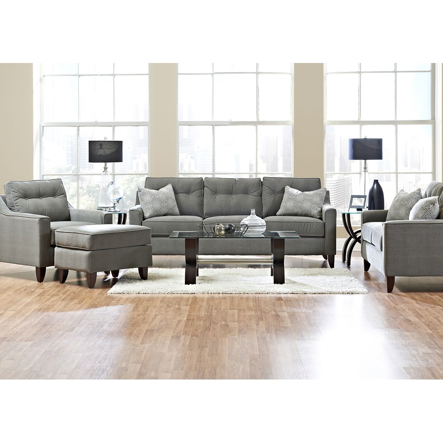 Well Known Prestige Aaron Sofa, Loveseat, Chair And Ottoman Collection Regarding Sectional Sofas At Aarons (View 19 of 20)
