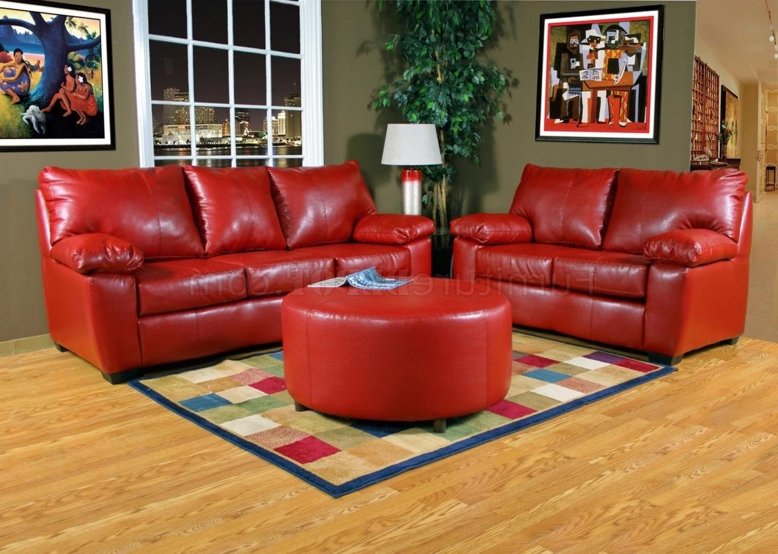 Red Leather Sofas And Loveseats | Baci Living Room