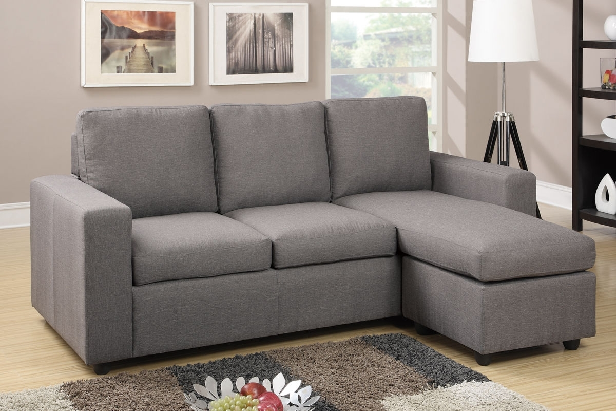 Well Known Reversible Sectional Sofa Couch Ottoman Poundex #f (View 13 of 20)