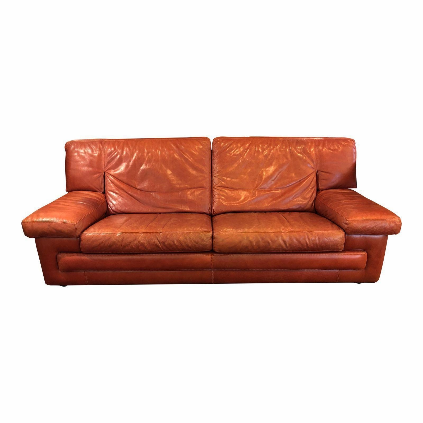 Well Known Roche Bobois Vintage Red Leather Sofa. Original Price: $4, (View 11 of 20)