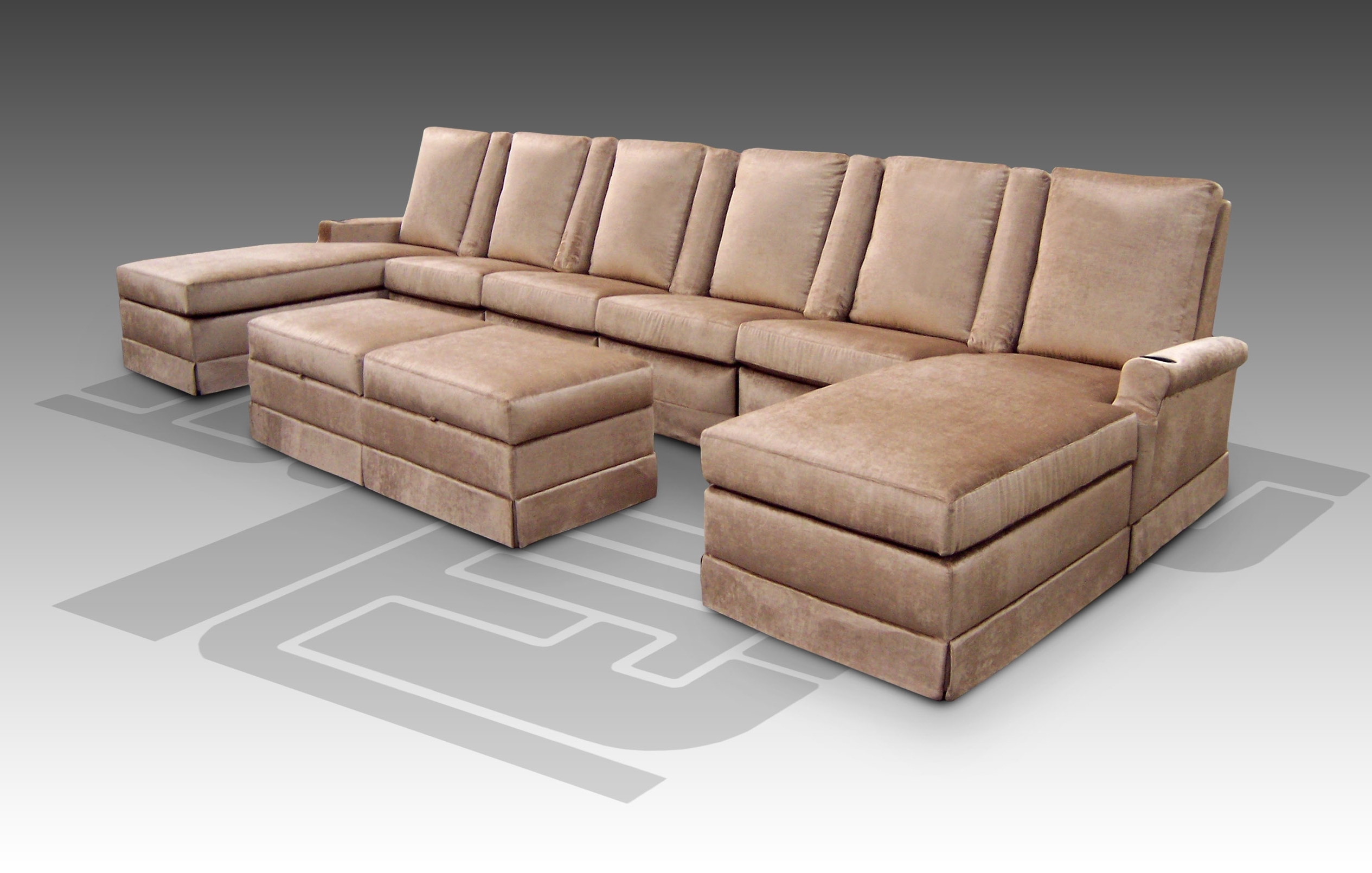 Well Known Sectional Sofa: Theater Seating Sectional Sofa Home Theater  Within Theatre Sectional Sofas (