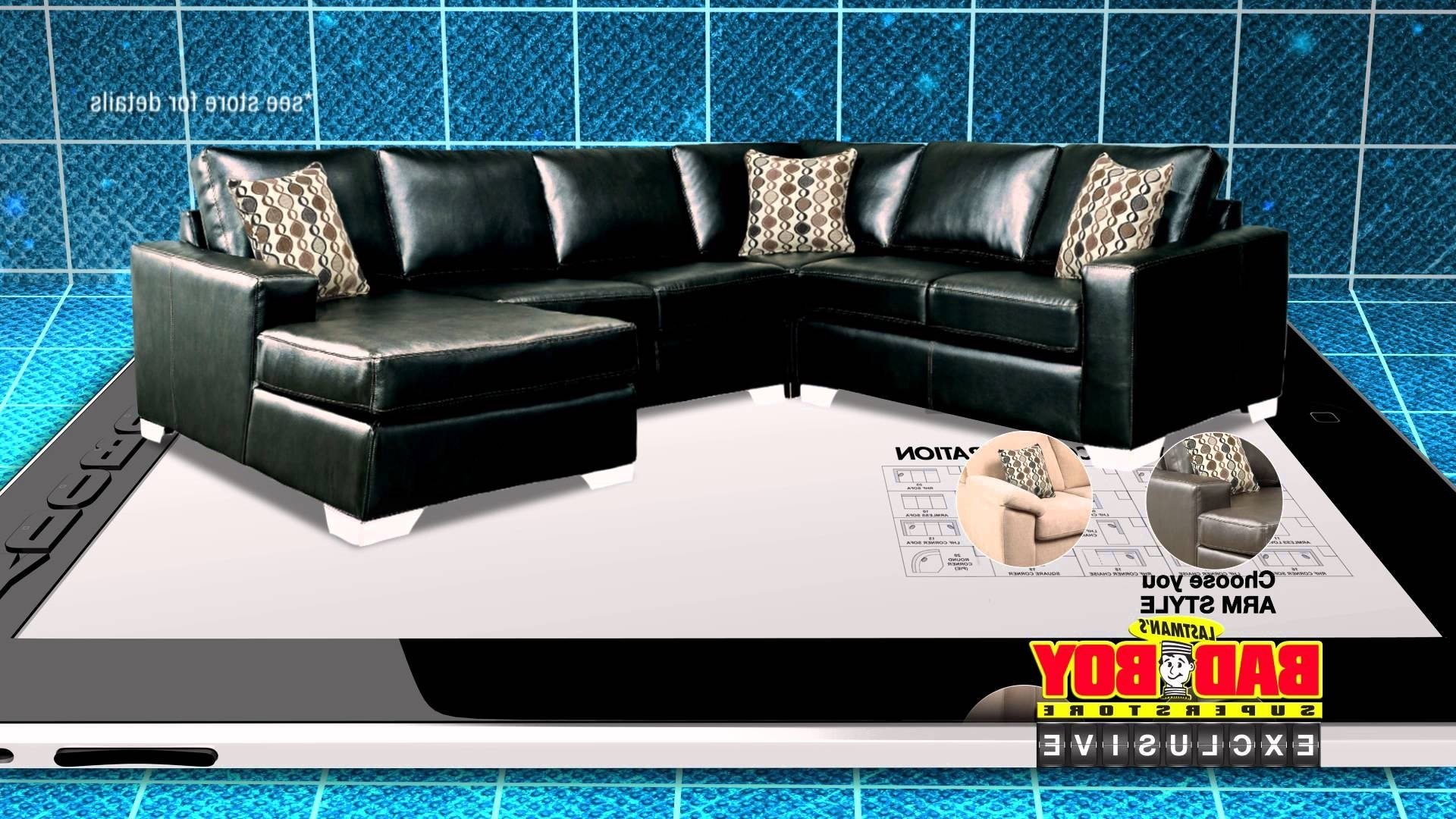 Well Known Sectional Sofas At Bad Boy Intended For Have It Your Way, Customize Your Sofa At Lastman's Bad Boy – Youtube (View 5 of 20)