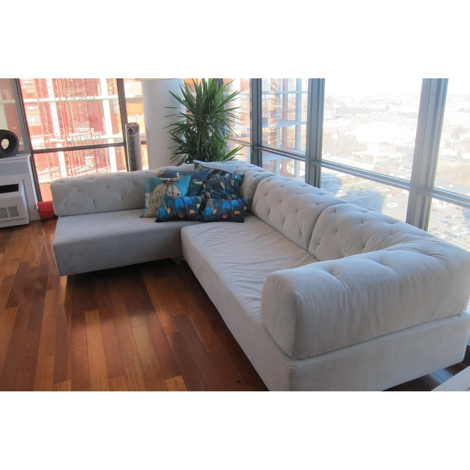 Well Known Sectional Sofas At Chicago Intended For West Elm Tufted Tillary Sectional Sofa  (View 17 of 20)