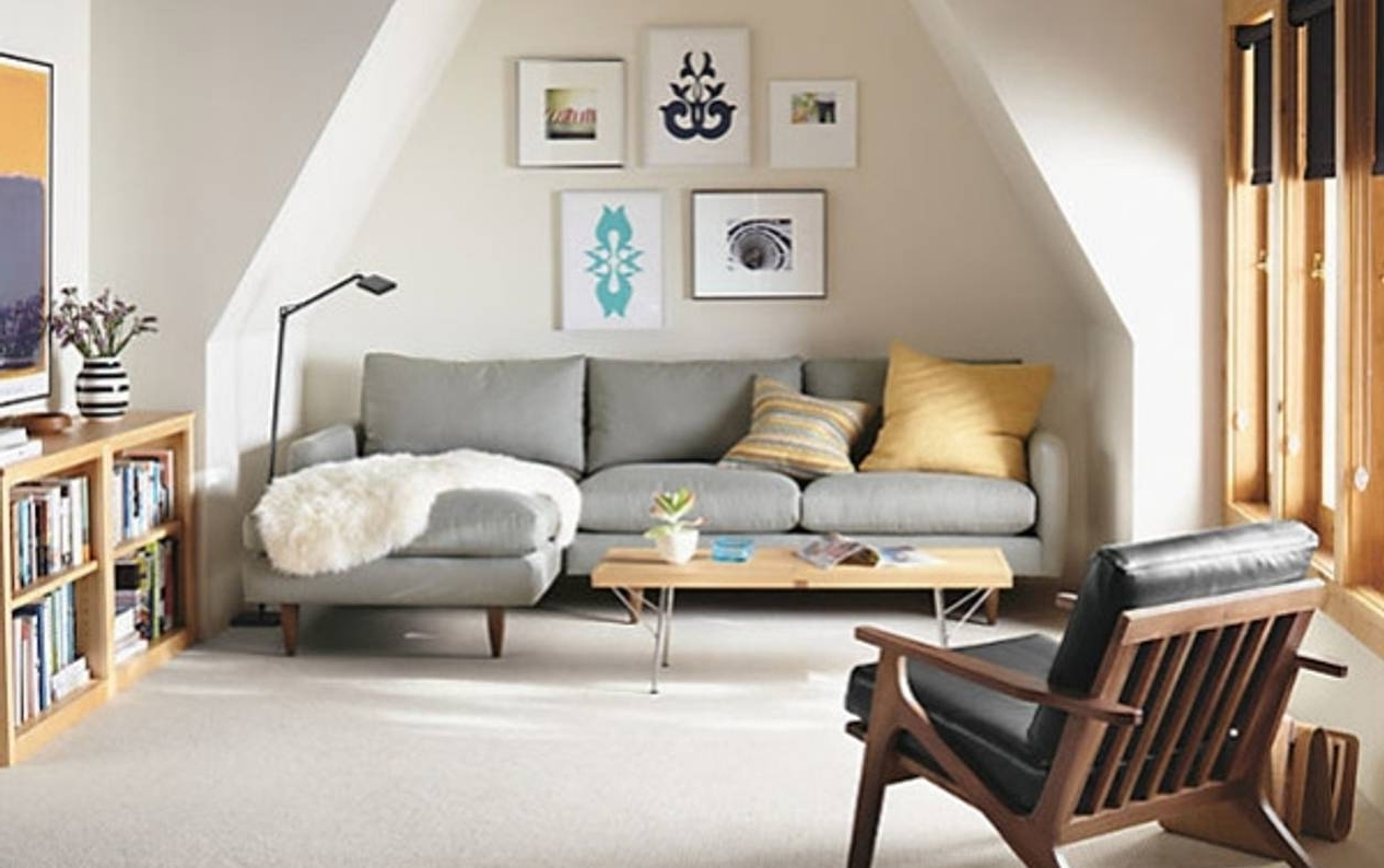 Well Known Sectional Sofas For Small Rooms With Regard To Corner Sofa Small Leather Sectional With Chaise Living Room (View 18 of 20)