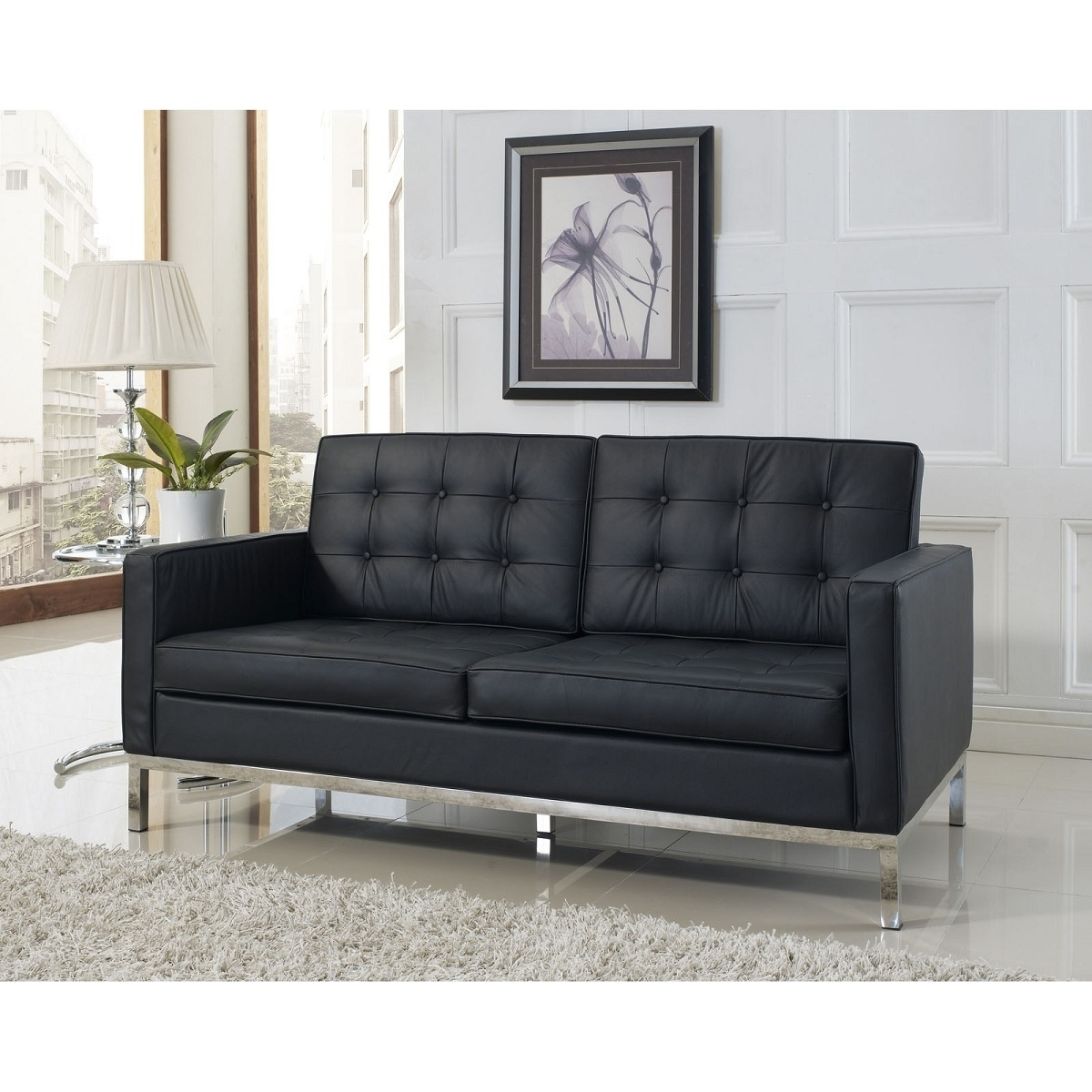 "Well Known Shop Florence 65"" Loveseat For Only $2880 Inside Florence Knoll Leather Sofas (View 17 of 20)"