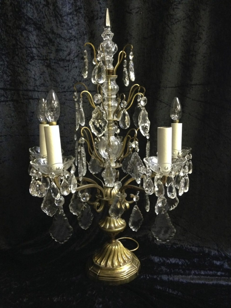 Well Known Small Chandelier Table Lamps In Chandeliers Design : Awesome French Antique Table Lamp Chandelier (View 20 of 20)