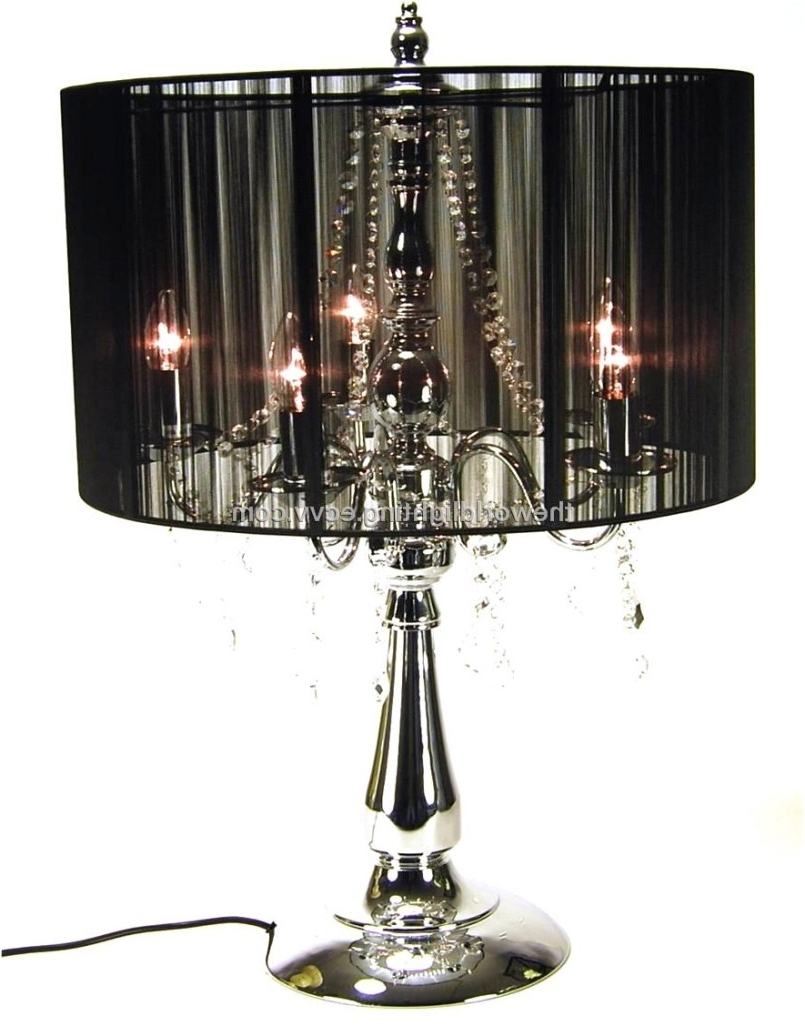 Well Known Small Crystal Chandelier Table Lamps Intended For Chandeliers Design : Awesome Crystal Shade Floor Lamp With Lights (View 11 of 20)