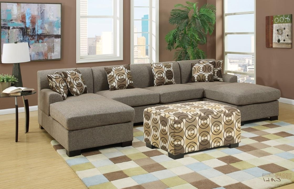 Well Known Small U Shaped Sectional Sofas Regarding Furniture: Hayward Sandstone Small U Shaped Sectional Sofa Set (Gallery 7 of 20)