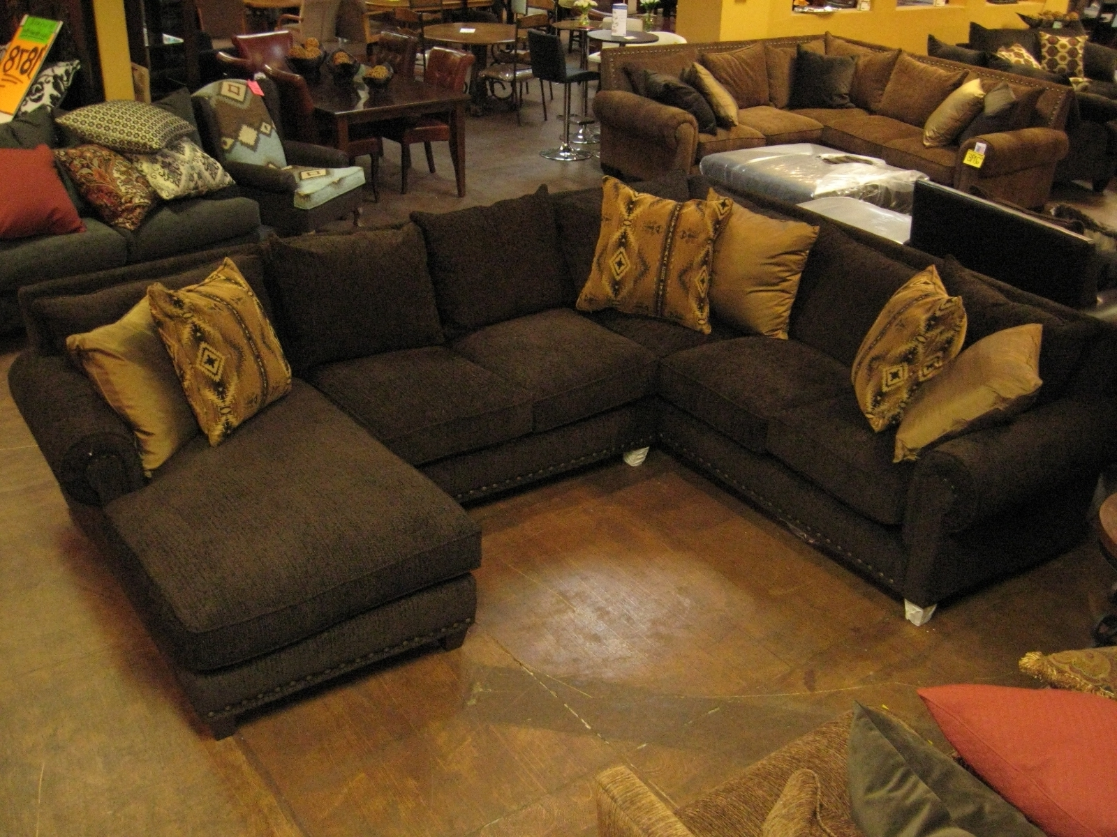 Well Known Sofa : Deep Seated Sectional New Sectional Sofa With Ottoman Deep Regarding Deep Cushion Sofas (View 14 of 20)