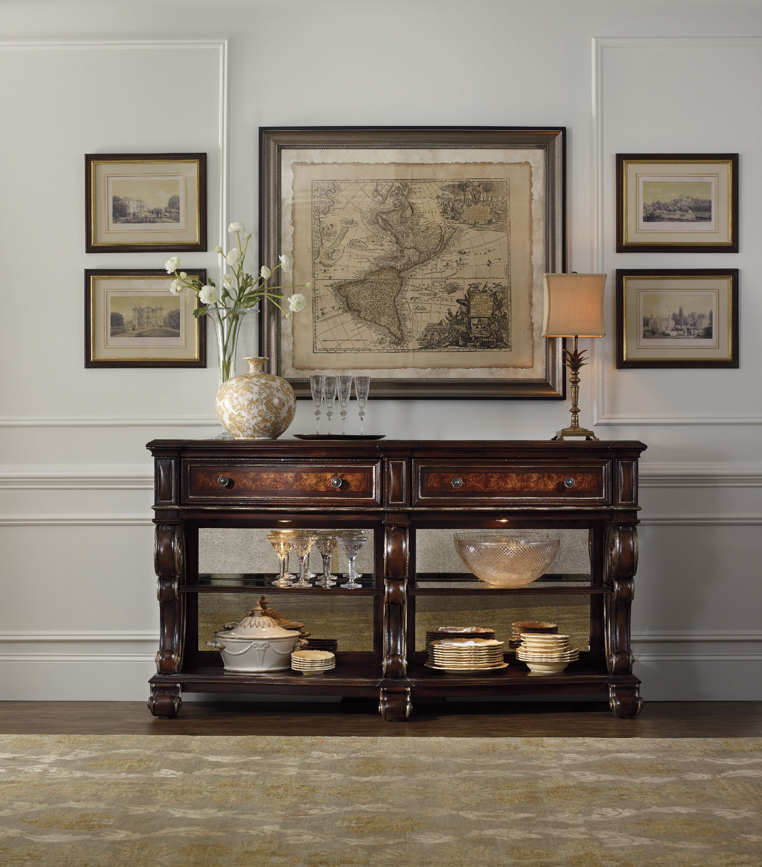 Well Known Sofas With Back Consoles In Great Prices Hooker Console Table Console Table Design Hooker (View 4 of 20)