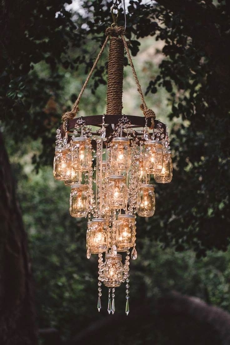Well Known Stand Up Chandeliers With Get Creative With These 44 Diy Mason Jar Crafts (View 19 of 20)